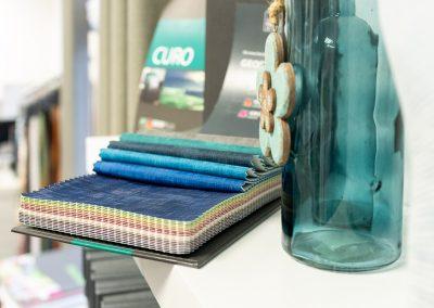 Auswahl an Textilien, Stoffe für Gardinen, Stoffbezüge
