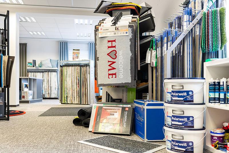 Zubehör und Materialien für die Innenausstattung in unserem Geschäft in Bielefeld Schröttinghausen nahe Werther