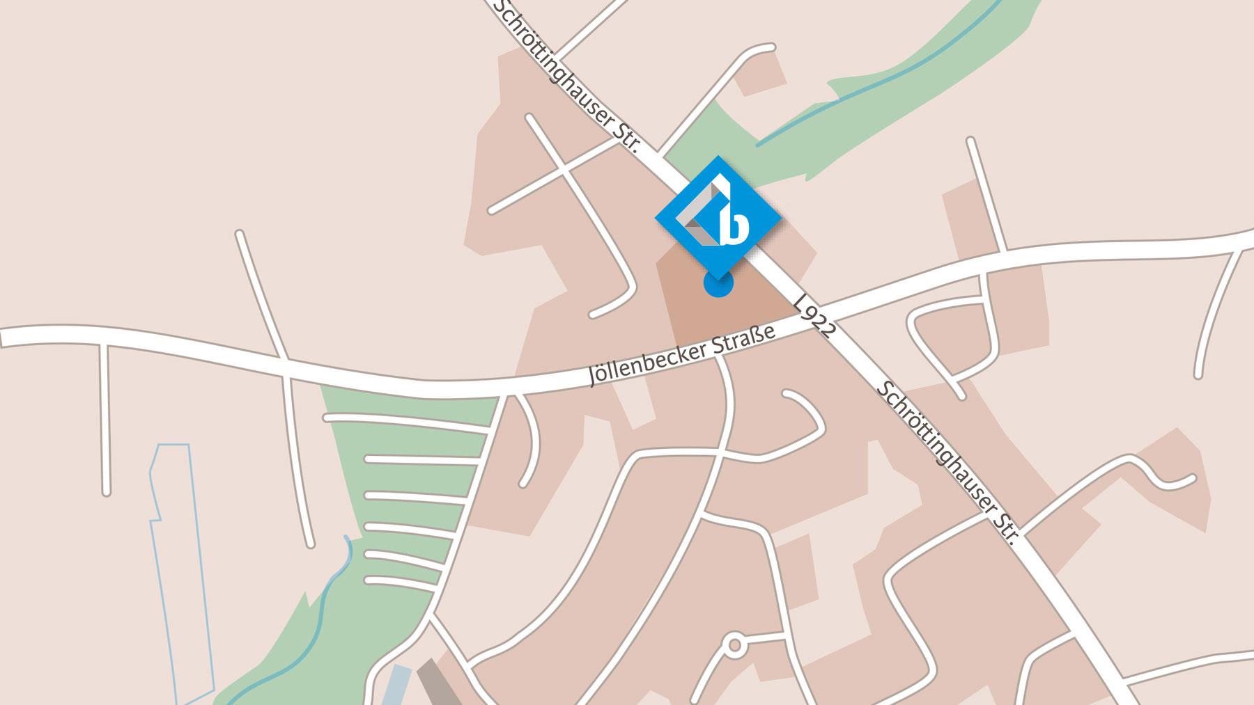 Sie finden uns an der Jöllenbecker Straße in Bielefeld Schröttinghausen, nah am Kreis Gütersloh und Kreis Herford